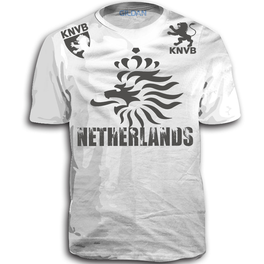 THE NETHERLANDS FIFA WORLD CUP ADULT SOCCER FLAG T-SHIRT WHITE