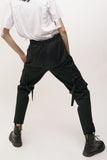 Black Ribbon Cargo Pants