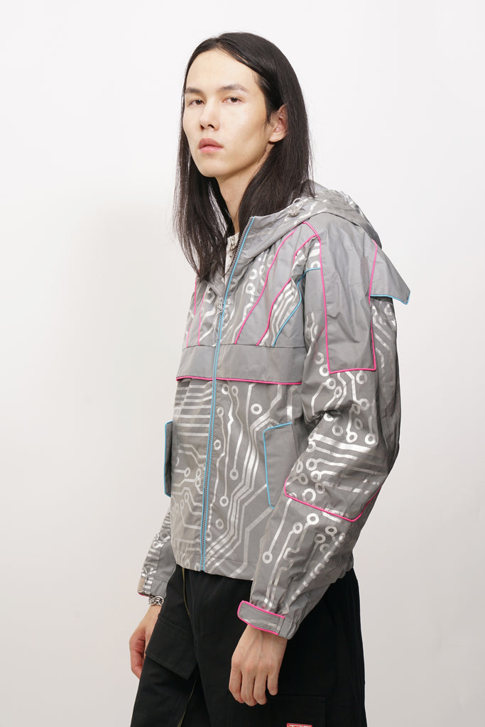 Circuit Board Reflective 3M Warrior Jacket