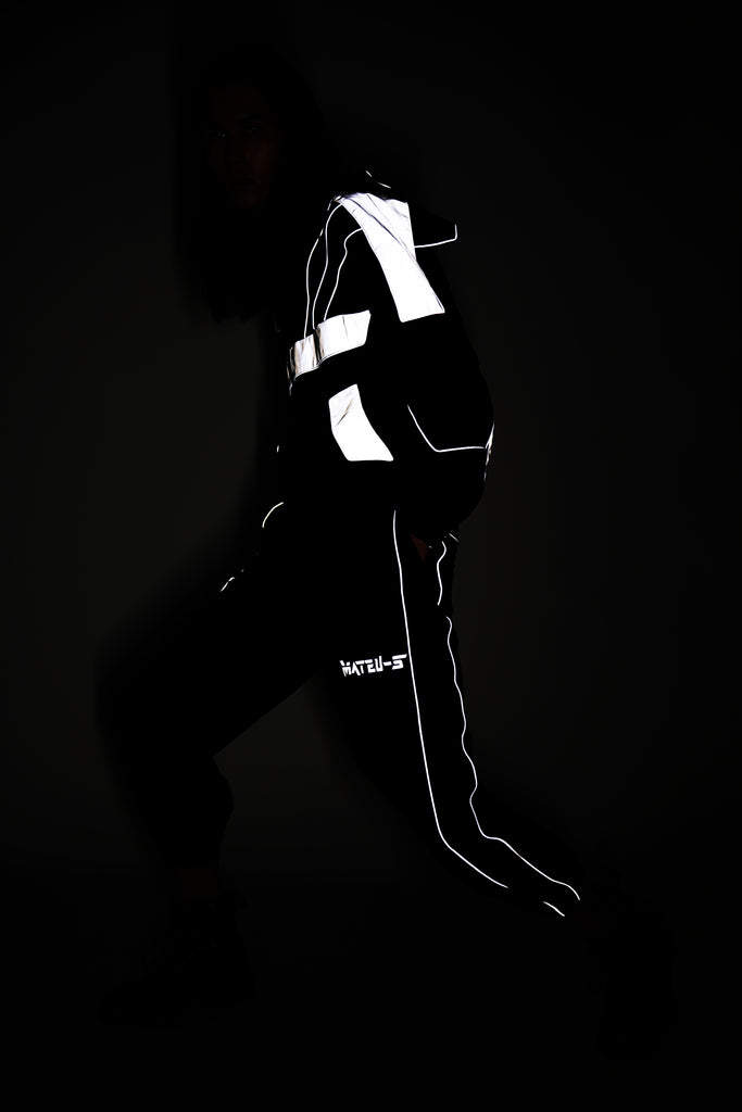 Black Reflective 3M Warrior Jacket