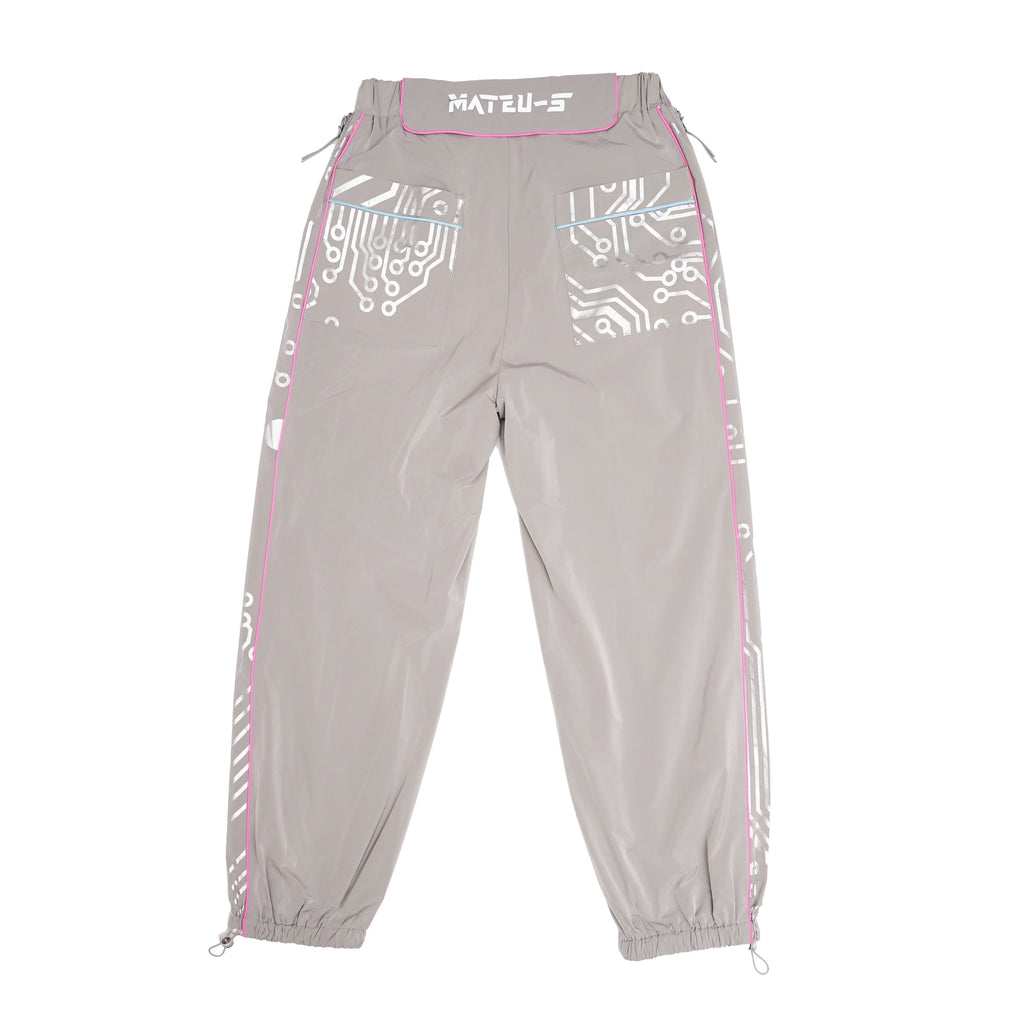 Circuit Board Reflective 3M Warrior Jogging Pants