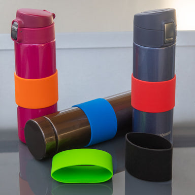 Grifiti Band Joes 4 x 2 Inch Silicone Grip Bands Mugs Cups Glasses Bottles Dumbbells - Grifiti