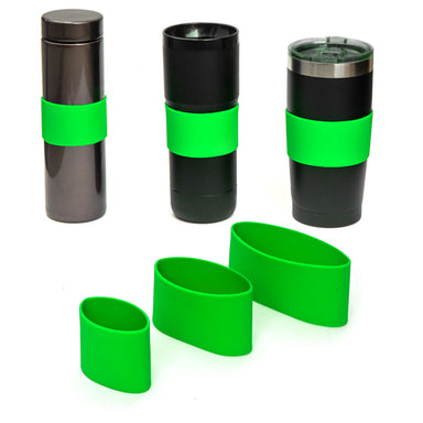 Grifiti Band Joes Silicone Grip Bands 3 Pack Assorted Sizes Mugs Cups Bottles Knobs Dumbbells - Grifiti