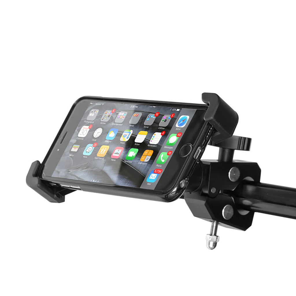 Grifiti Nootle Heavy Duty Bar Clamp Full Metal Construction + Universal Phone Mount - Grifiti