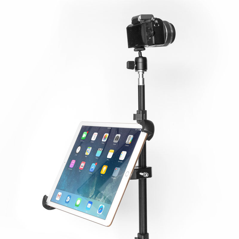 Grifiti Nootle Heavy Duty Bar Metal Clamp + Universal Large Tablet and iPad Mount - Grifiti