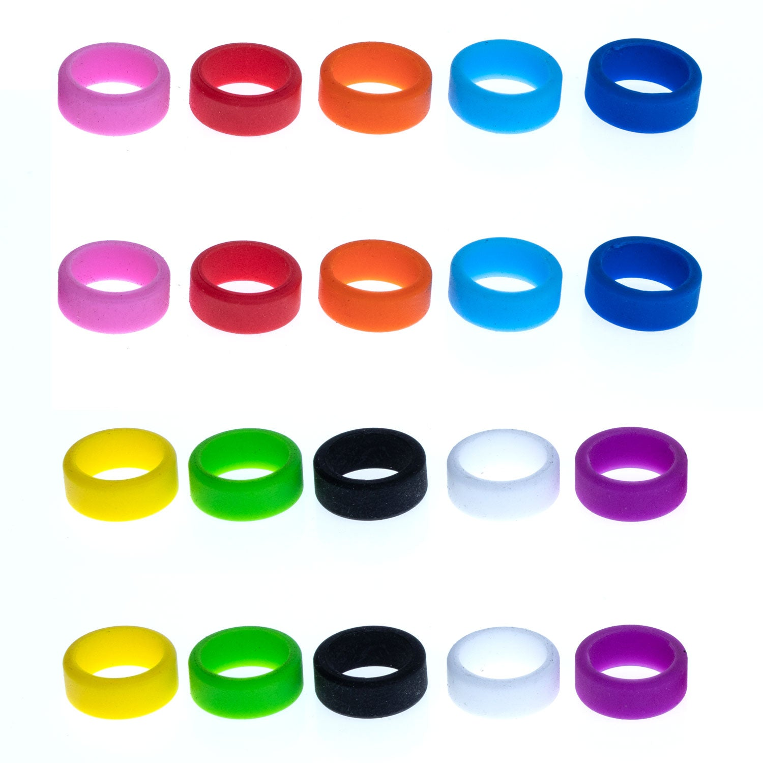 Grifiti Band Joes 1 x 0.25 inch Mini Silicone Bands 20 pack for Cords Rings Gaskets Wraps - Grifiti