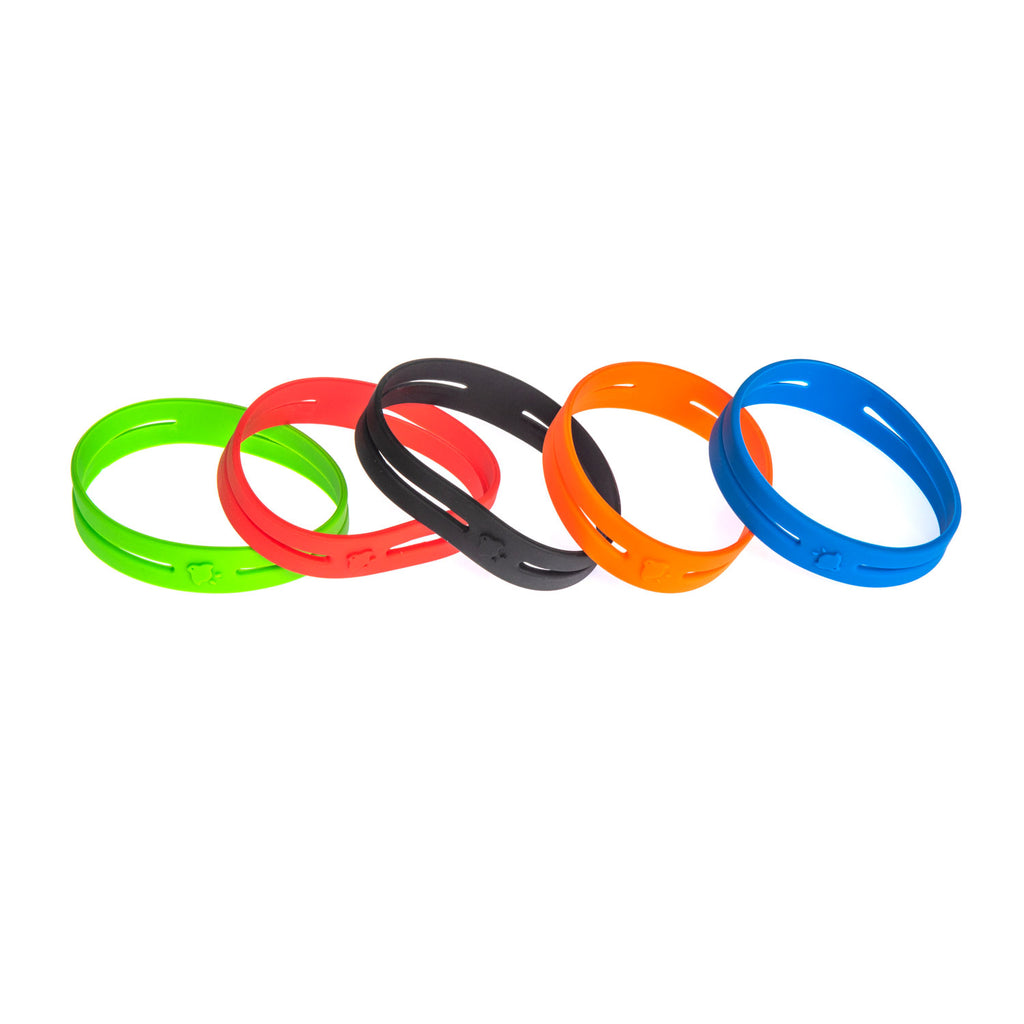 Grifiti Band Joes 4 x .75 inch Silicone Cross Bands Wrist Box Book Shirt Wrap - Grifiti