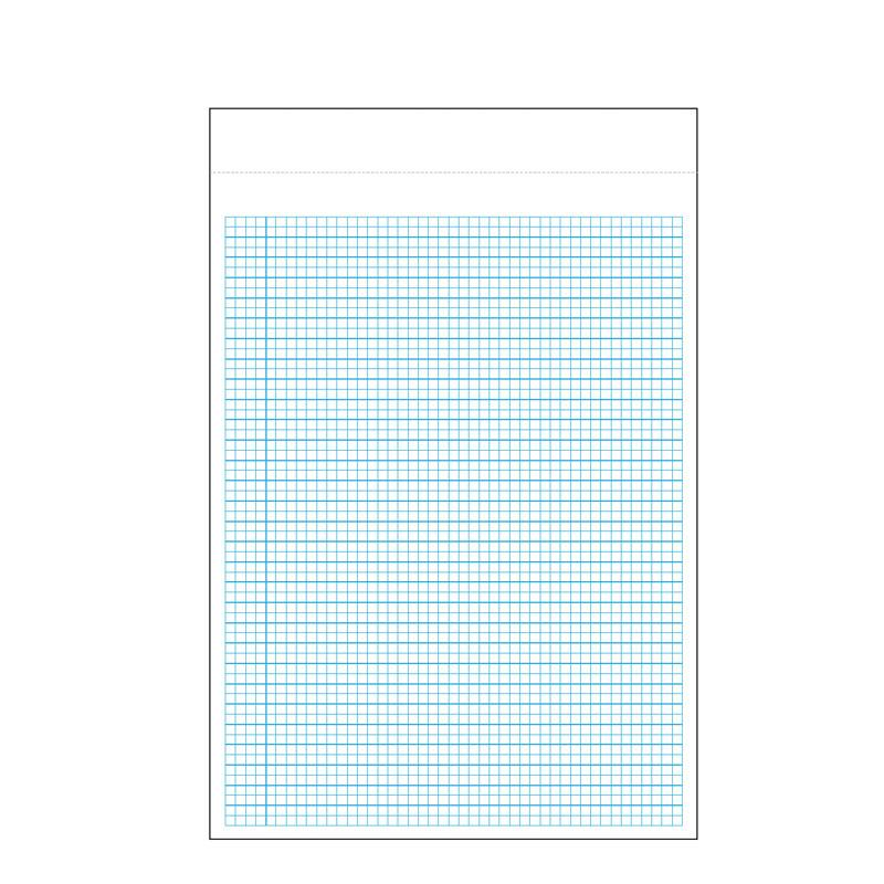 Grifiti Dootle Notepads Blue Grid and Ruled Pattern 8.5 x 11 inch Size 3 Pack - Grifiti