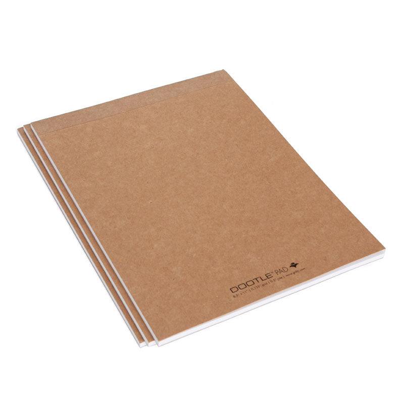 Dootle 8.5 x 11 inch Notepad (3pk) - Grifiti