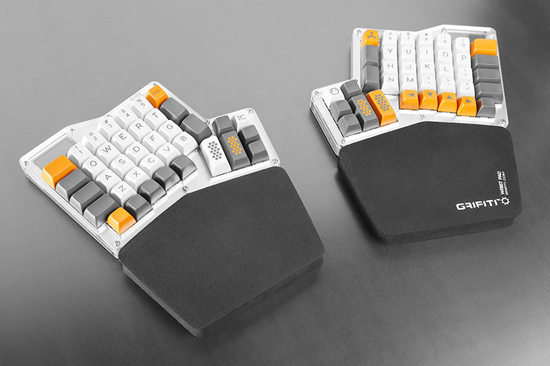 Grifiti Ergodox Fat Wrist Pad Set Nylon Surface Keyboard Palm Rests - Grifiti