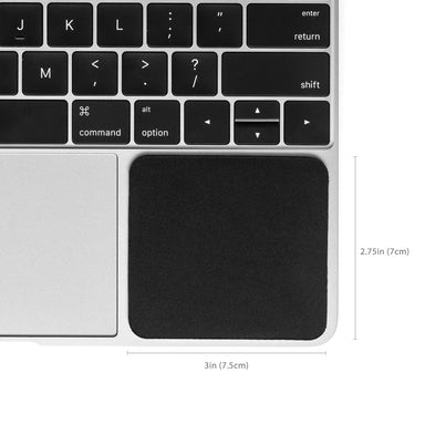 Grifiti Small Slim Palm Pads 2.75 x 3 x 0.185 inches Small Wrist Rest on MacBooks and Laptops - Grifiti