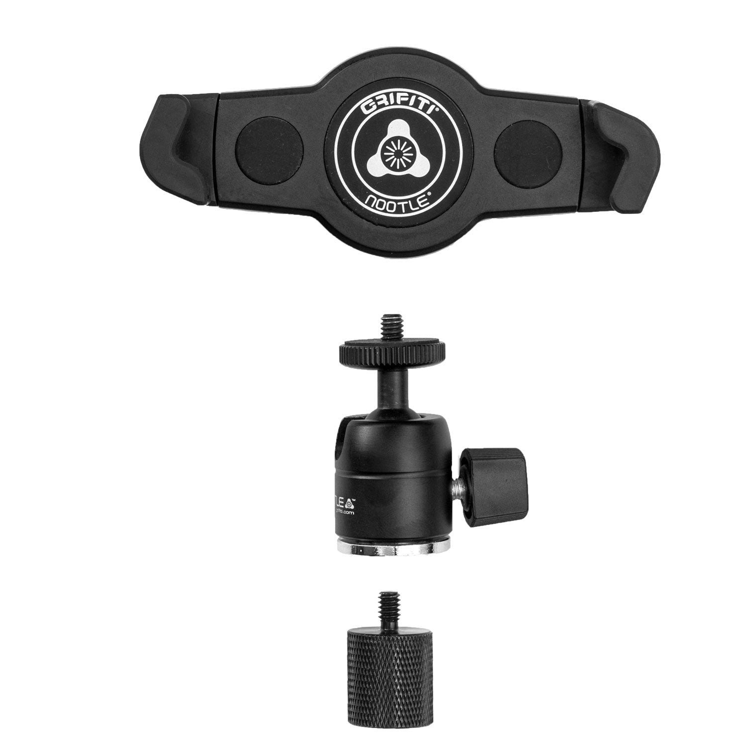 Grifiti Nootle Music Stand Retrofit Adaptor Mini Ball Head and Phone or Tablet Mount Bundles - Grifiti