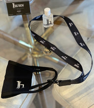 Load image into Gallery viewer, Black JH Lanyard to carry your mask/Never leave home without it