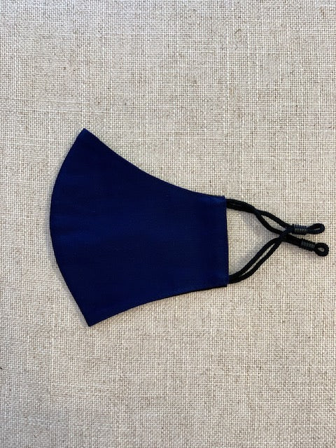 Navy Plain Mask with Grommets For Teen Agers and KIDS