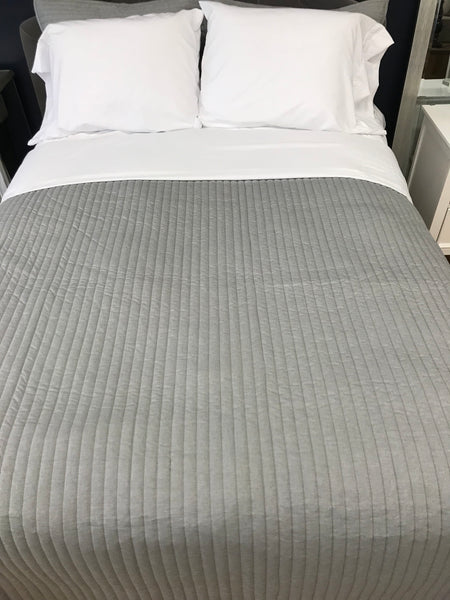King - Grey Quilt Coverlet