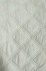 King - Cream Coverlet Set