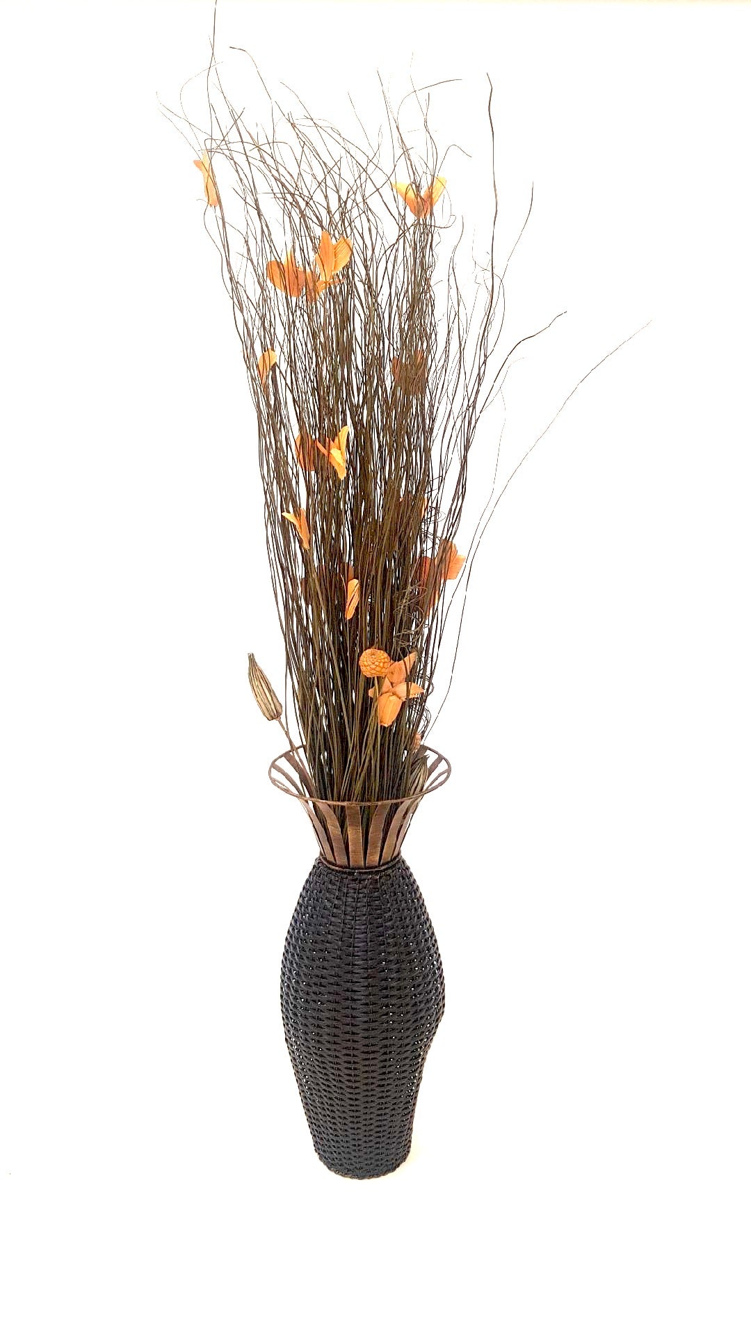 Floral Sticks in Brown Vase