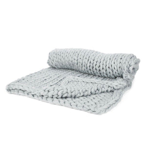 Beige Knit Throw