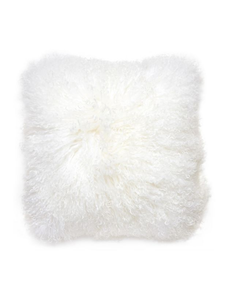 White Mongolian Sheepskin Square