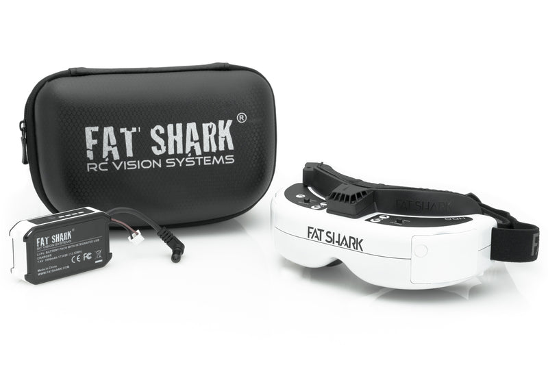 Fat Shark HDO FPV Goggles with 18650 Battery Kit
