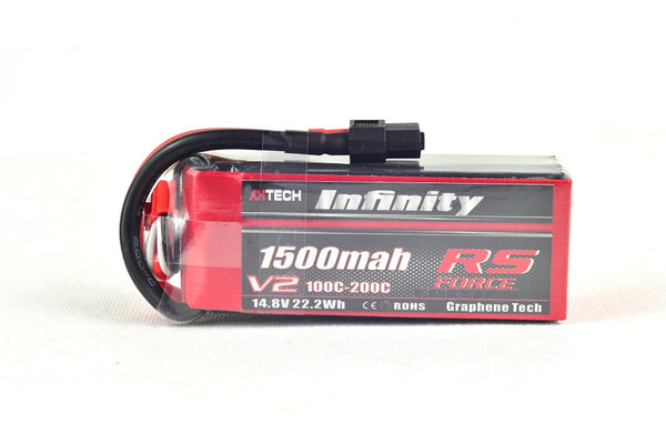 Infinity RS Force V2 4S 1500mah 100-200C Lipo Battery