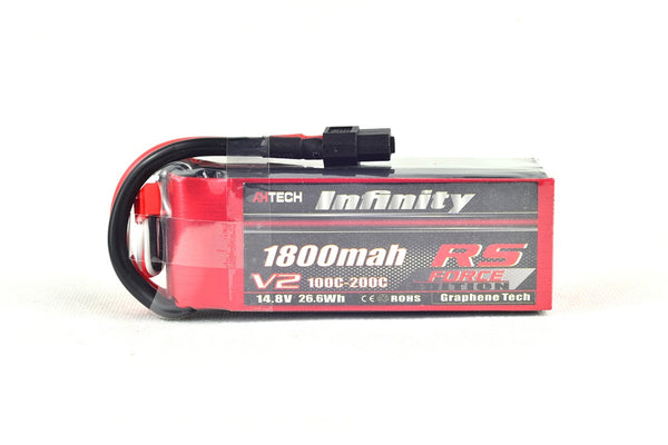 Infinity RS Force V2 4S 1800mah 100-200C Lipo Battery