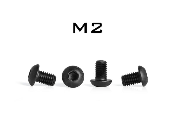 M2 Button Head Hex Socket Cap Screw 10.9 Steel Black Oxide