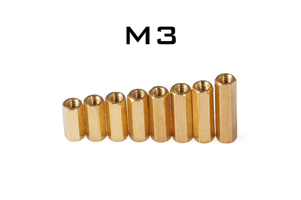 M3 Brass Hex Standoff Female Thread