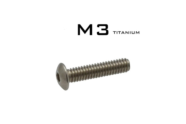 M3 Button Head Hex Socket Cap Titanium Screw