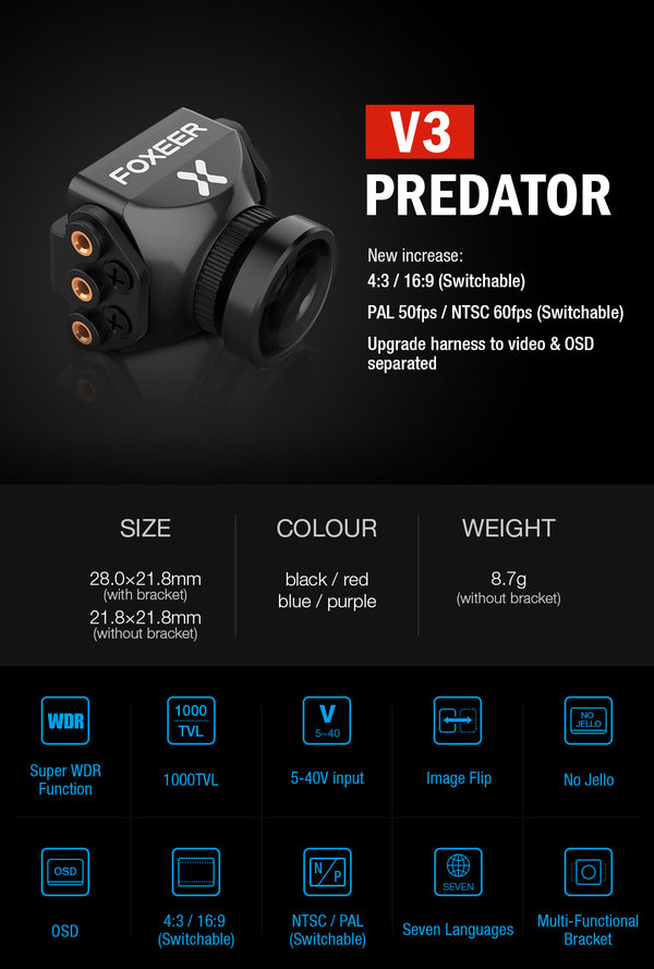 Foxeer Predator V3 Mini Camera