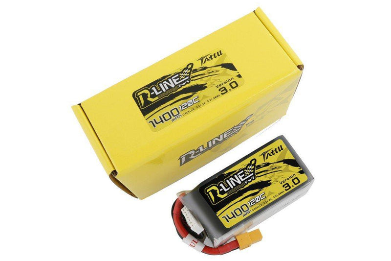 Tattu R-Line 3.0 6S 1400mah 120C Lipo Battery