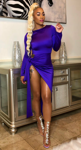 PURPLE RAIN High Split Dress