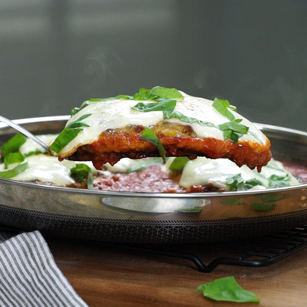 Chicken Parmesan in Stainless Steel Frying Pan by HexClad