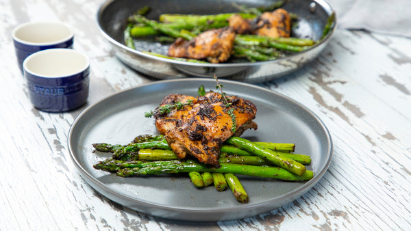 Garlic Herb Chicken and Asparagus