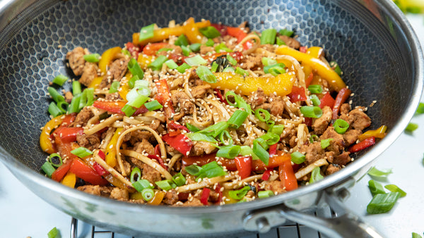 Hexclad cookware spicy udon noodles recipe