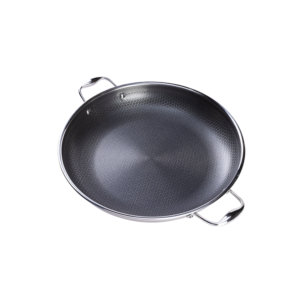 "14"" HexClad Hybrid Pan with Lid"