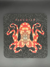 Red 8 inch square Octopus mood mats