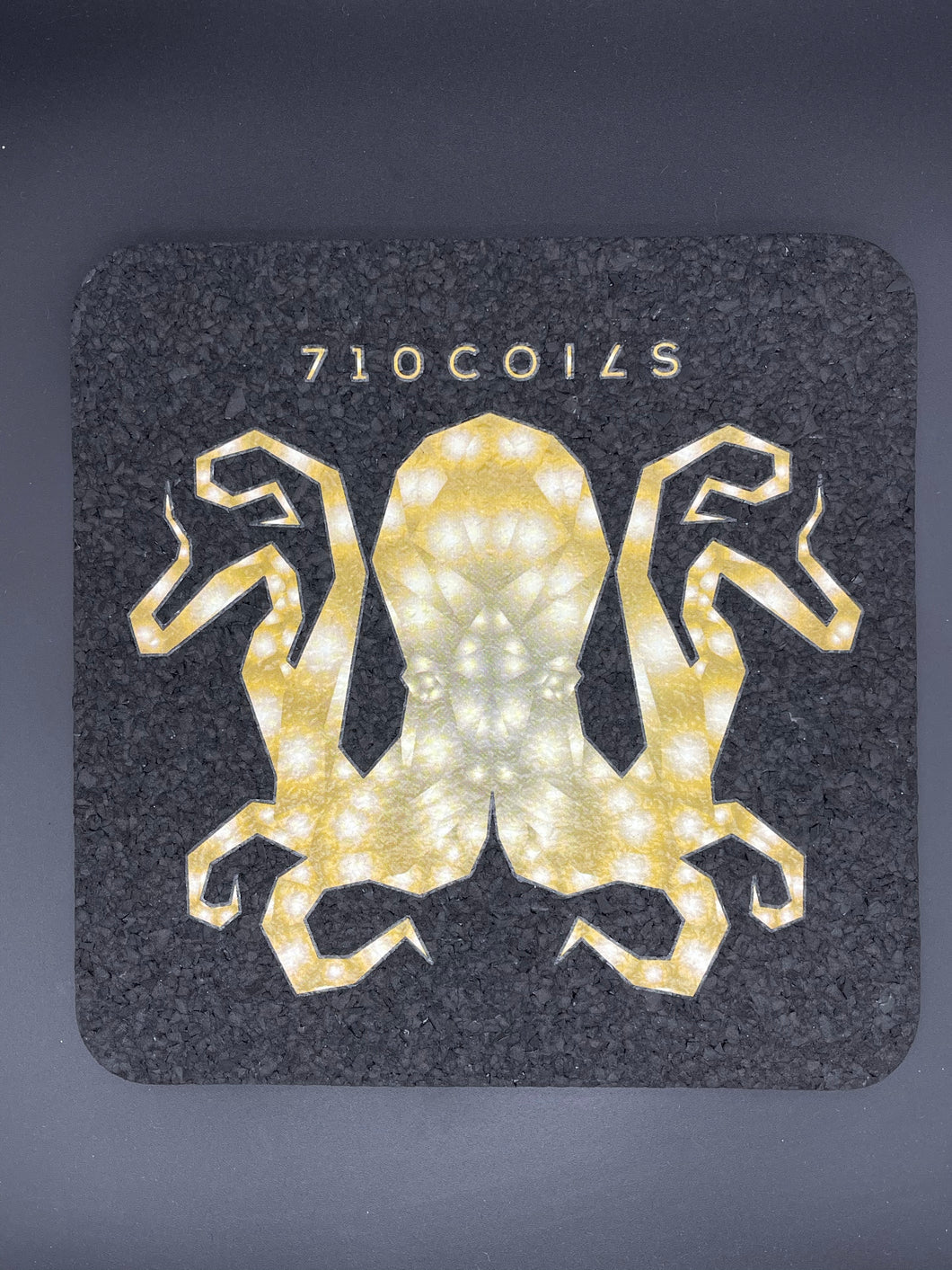 Yellow 8 inch square Octopus mood mats