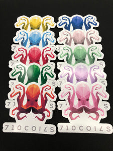 710 coils sticker packs - Seven Ten Coils