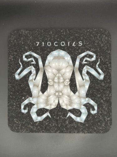 Gray 8 inch square Octopus mood for mats