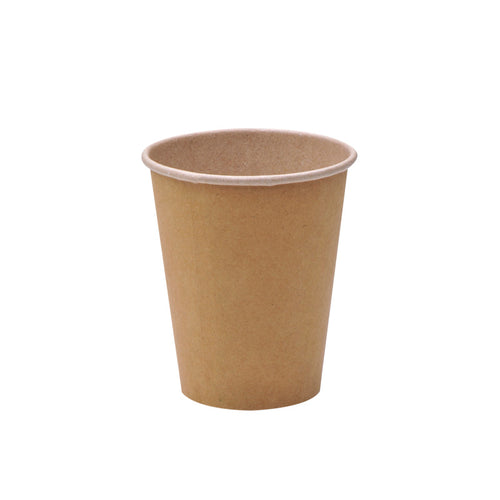 luckypack 10oz kraft single wall paper cup