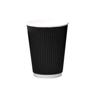 luckypack 12oz vertical ripple paper cup