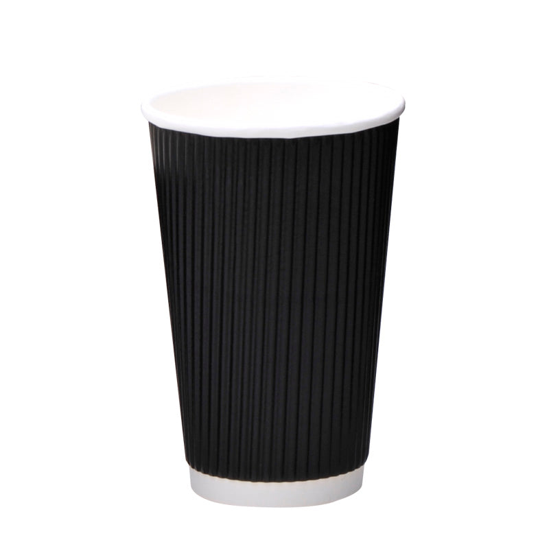 luckypack 16oz vertical ripple paper cup