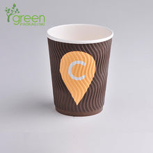 Load image into Gallery viewer, luckypack 10oz s ripple paper cup