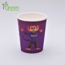 Load image into Gallery viewer, luckypack 12oz vertical ripple paper cup
