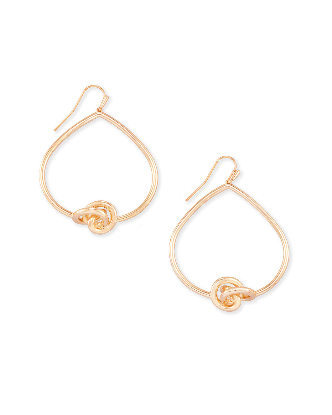 Presleigh Love Knot Open Frame Earrings in Rose Gold