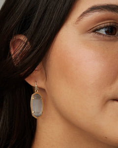 Dani Gold Earrings in Slate