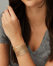 Load image into Gallery viewer, Candice Gold Cuff Bracelet in Silver Filigree Mix