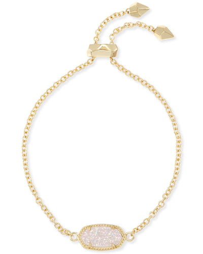 Elaina Gold Adjustable Chain Bracelet in Iridescent Drusy
