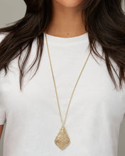 Load image into Gallery viewer, Aiden Gold Long Pendant Necklace in Gold Filigree Mix